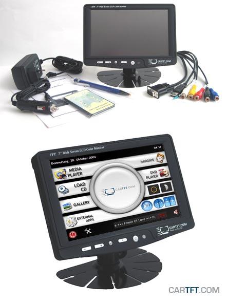 "CTF700 - VGA 7"" TFT - Touchscreen USB - PAL/NTSC - IR Remote - Audio <b>(500 nits) [LED-Backlight]</b>"