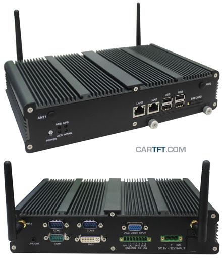 FleetPC-5 Car-PC (AMD G-T56N 2x1.65Ghz, 2GB RAM, Autostart-Controller, 9-36V Automotive PSU, GPS, CAN-BUS) [<b>FANLESS</b>]
