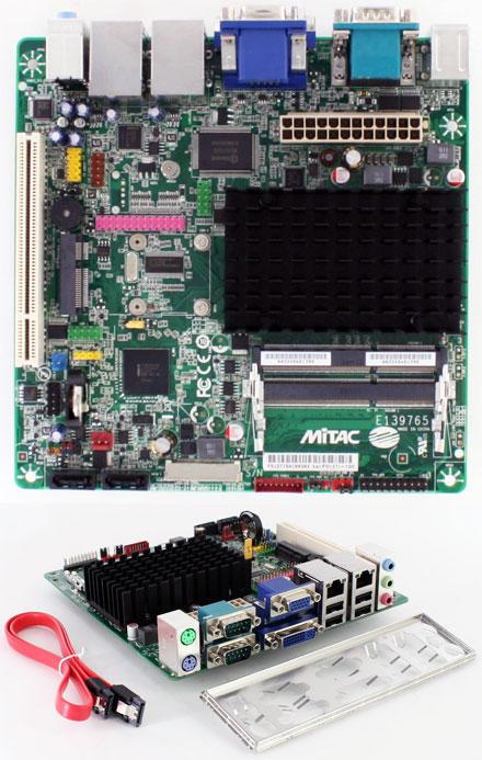 Mitac PD12TI (Intel D2500CC-E) (Intel Atom 2x 1.86Ghz CPU, 2x LAN, 4x RS232) [<b>FANLESS</b>]