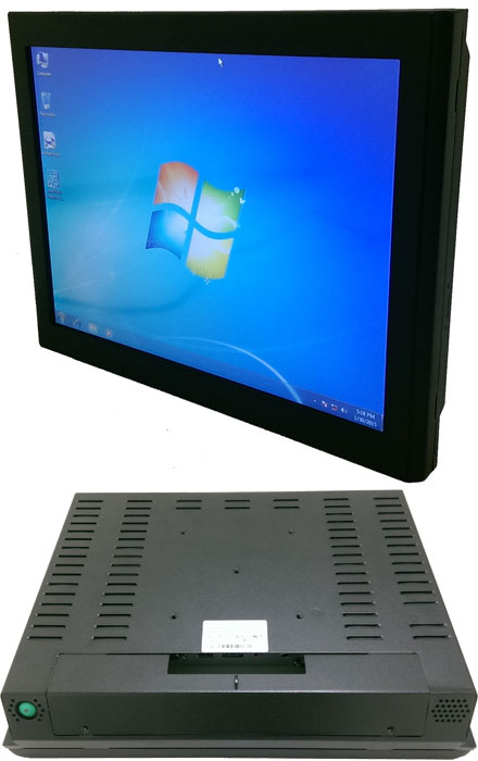 "Mitac D150-BR 15"" Panel PC (1024x768, Touchscreen, PD11BI Thin-ITX BayTrail, IP64 Front, Fanless)"