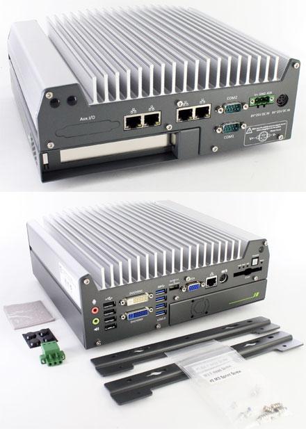 Nuvo-3000E-IGN (Intel Core i5 / i7, 5x LAN, 1x PCIe Cassette) [<b>FANLESS</b>]